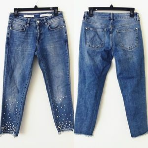 ANTHROPOLOGIE Pearl Step Hem Ankle Jeans